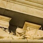 MacNeil's 'Tortoise' on the north corner of his east pediment sculpture