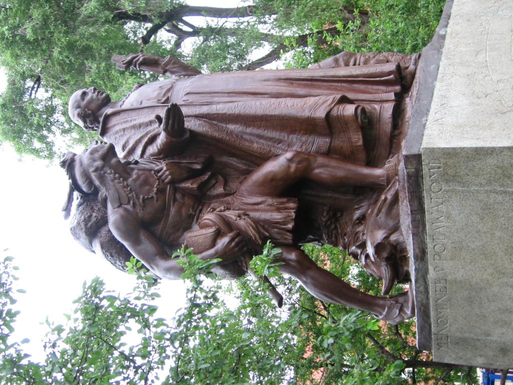 Marquette statue in chicago hermon a macneil