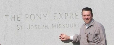 The Pony Express at St Joseph, Missouri.  Dan Leininger, webmaster, has visited it many times as a small boy. Now it is part of his ongoing  research on Hermon MacNeil.