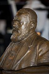 Bust of Dwight L. Moody, Evangelist, made by MacNeil in 1920 for the  Mount Hermon Academy in Northfield, assachusetts