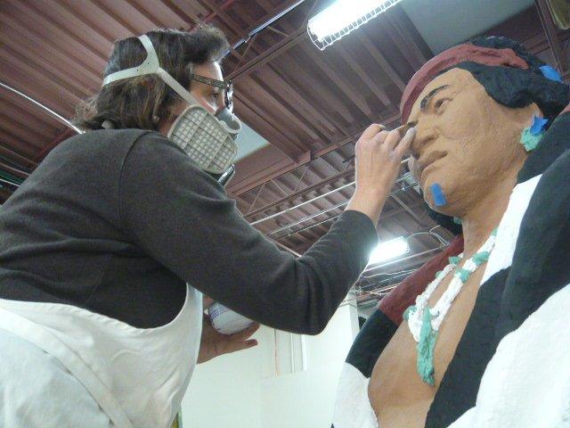 Manuelito-plaster-finishing-of-native-American-sculpture
