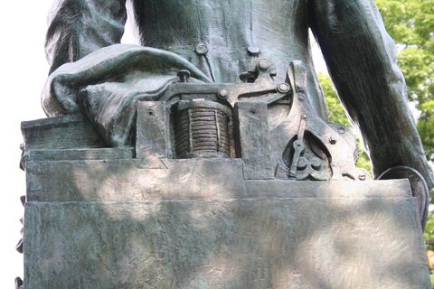 Hermon MacNeil include this sculpture of the 'original telegraph' into his tribute to Erza Cornell in 1917.