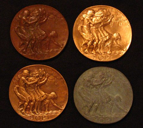 Obverse of SOM#3 by Hermon MacNeil (collection of Dan Leininger, webmaster)