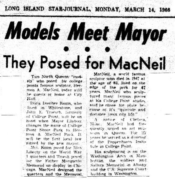 Long Island Star-Journal, March 14, 1966 Article on Doris Doscher Baum (SLQ model) and Troesh (Marquette model).