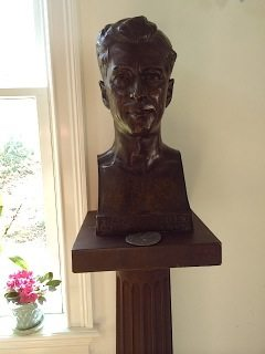 Bust of F.G. Reilly, MD, FACS was the physician for Hermon A. MacNeil. This bust was a gift to Dr. Reilly by the artist.