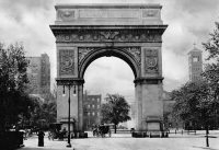 The Washington Arch BEFORE 1812 with no statues in place.